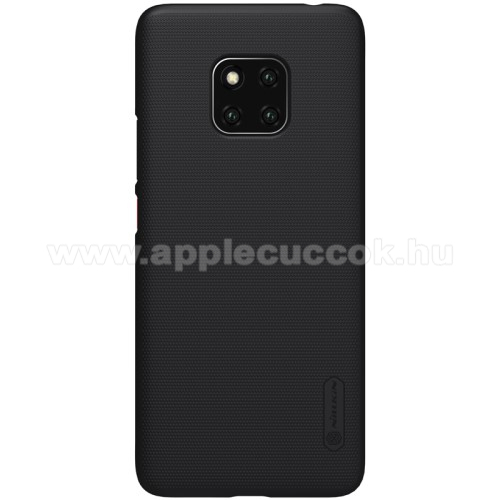 NILLKIN SUPER FROSTED m?anyag v�d? tok / h�tlap - �rdes fel�let - FEKETE - HUAWEI Mate 20 Pro - GY�RI
