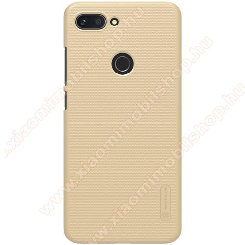 NILLKIN SUPER FROSTED műanyag védő tok / hátlap - érdes felület - ARANY - asztali tartó állvánnyal! - Xiaomi Mi 8 Lite / Xiaomi Mi 8 Youth (Mi 8X) - GYÁRI