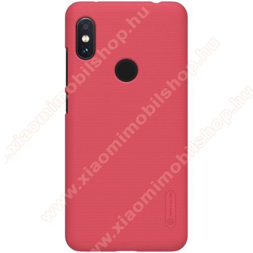 NILLKIN SUPER FROSTED műanyag védő tok / hátlap - érdes felület - PIROS - Xiaomi Redmi Note 6 Pro - GYÁRI