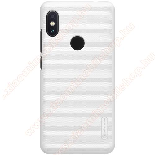 NILLKIN SUPER FROSTED műanyag védő tok / hátlap - érdes felület - FEHÉR - Xiaomi Redmi Note 6 Pro - GYÁRI