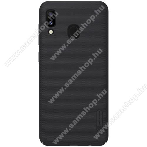 NILLKIN SUPER FROSTED műanyag védő tok / hátlap - érdes felület - FEKETE - SAMSUNG SM-A305F Galaxy A30 / SAMSUNG SM-A205F Galaxy A20 / SAMSUNG SM-M107F Galaxy M10s - GYÁRI
