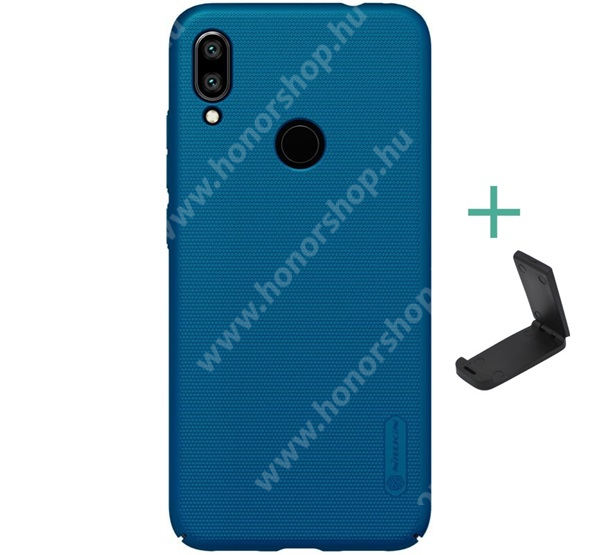 NILLKIN SUPER FROSTED műanyag védő tok / hátlap - érdes felület - SÖTÉTKÉK - asztali tartó állvánnyal! - Xiaomi Redmi 7 / Xiaomi Redmi Y3 - GYÁRI