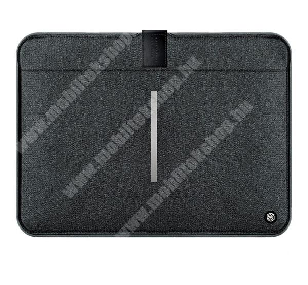 """NILLKIN Tablet / Laptop UNIVERZÁLIS tok / táska - FEKETE - POUCH, Szövet, mágneses, ütődésálló, cseppálló - ERŐS VÉDELEM! - 13""""-os készülékekig használható, Belső méret: 326 x 228 x 17 mm, Külső méret: 357 x 268 x 18mm - GYÁRI"""