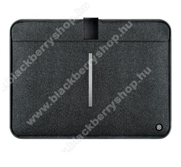 NILLKIN Tablet / Laptop UNIVERZÁLIS tok / táska - FEKETE - POUCH, Szövet, mágneses, ütődésálló, cseppálló - ERŐS VÉDELEM! - 13