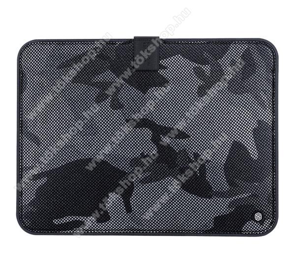 NILLKIN Tablet / Laptop UNIVERZÁLIS tok / táska - FEKETE - TEREPMINTA - POUCH, Szövet, mágneses, ütődésálló, cseppálló - ERŐS VÉDELEM! - 13,3