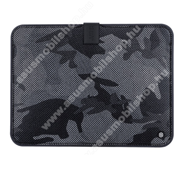 ASUS Transformer Pad TF303CLNILLKIN Tablet / Laptop UNIVERZÁLIS tok / táska - FEKETE - TEREPMINTA - POUCH, Szövet, mágneses, ütődésálló, cseppálló - ERŐS VÉDELEM! - 13,3