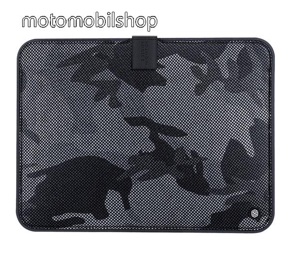 """NILLKIN Tablet / Laptop UNIVERZÁLIS tok / táska - FEKETE - TEREPMINTA - POUCH, Szövet, mágneses, ütődésálló, cseppálló - ERŐS VÉDELEM! - 13,3""""-os készülékekig használható, Belső méret: 326 x 228 x 17 mm, Külső méret: 357 x 268 x 18mm - GYÁRI"""