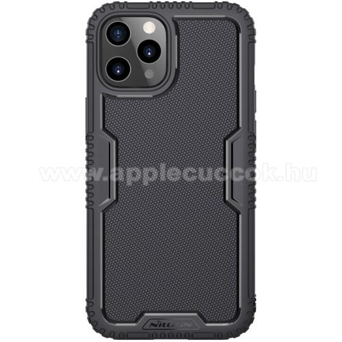 NILLKIN TACTICS szilikon védő tok / hátlap - csúszásgátló, erősített sarkok, ERŐS VÉDELEM - FEKETE - APPLE iPhone 12 / APPLE iPhone 12 Pro - GYÁRI