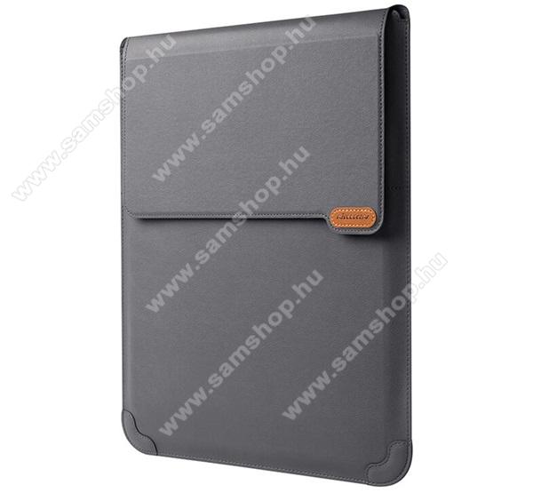NILLKIN VERSATILE UNIVERZÁLIS 3in1 Tablet / Laptop tok / táska - cseppálló, 18° és 25°-os szögben állítható, asztali tartó, egérpad funkció - SZÜRKE - 16
