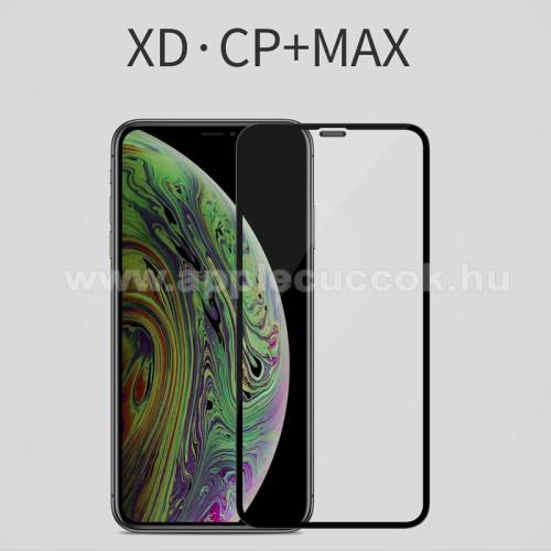 NILLKIN XD CP+ MAX előlap védő karcálló edzett üveg - 0,3mm, 9H - FEKETE - A TELJES KIJELZŐT VÉDI! - Apple iPhone 11 - GYÁRI