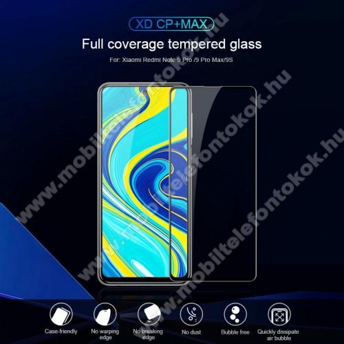 NILLKIN XD CP+ MAX előlap védő karcálló edzett üveg - 0,3mm, 9H - FEKETE - A TELJES KIJELZŐT VÉDI! - Xiaomi Redmi Note 9S / Redmi Note 9 Pro / Redmi Note 9 Pro Max / Poco M2 Pro - GYÁRI