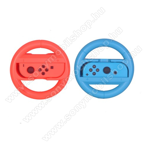 Nintendo Switch Joy-Con jobb és bal oldali kontrollerhez kormány-tok - 1pár/2db - PIROS / KÉK