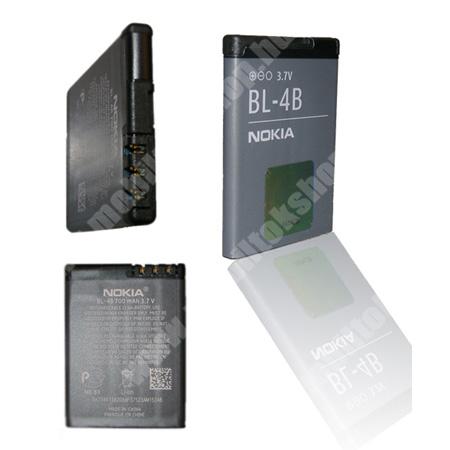 NOKIA akku 700 mAh LI-ION - BL-4B - GYÁRI - Csomagolás nélküli(BL-4BA utódja)