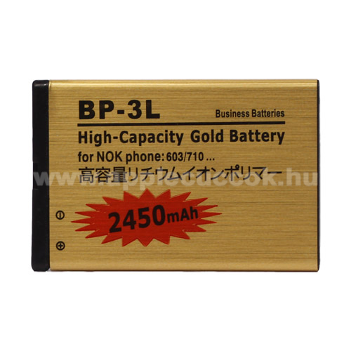 NOKIA BP-3L kompatibilis akku 2450 mAh LI-ION POLYMER - EXTRA KAPACIT�S!