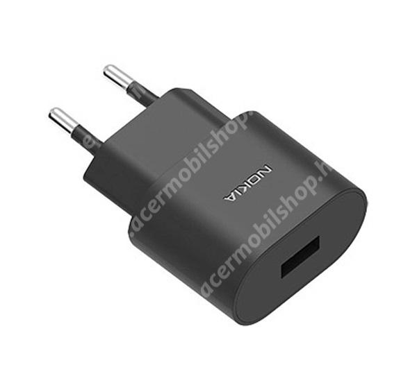 ACER Liquid Z3 NOKIA hálózati töltő USB aljzat (5V / 1000mA, kábel nélkül) FEKETE - AD-5WE - GYÁRI