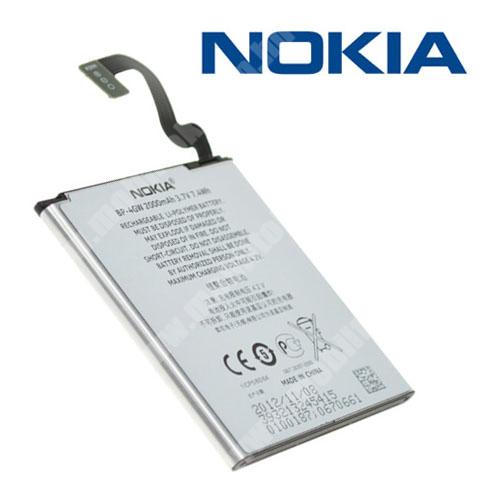 NOKIA Lumia 920 akku 2000 mAh LI-ION - BP-4GW - GYÁRI - Csomagolás nélküli - Belső akku, beépítése szakértelmet igényel!