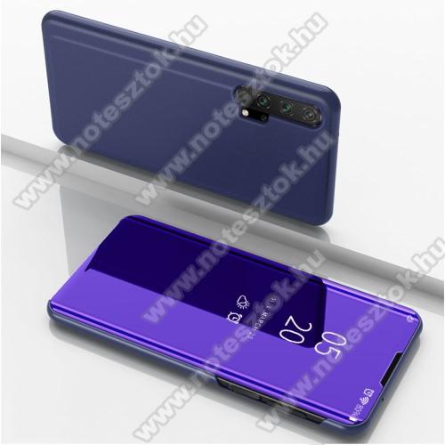 Notesz / flip tok - LILA - oldalra nyíló áttetsző tükrös flip cover, asztali tartó funkció, műanyag belső - HUAWEI Honor 20 / HUAWEI Honor 20S / HUAWEI nova 5T / HUAWEI Honor 20 Pro