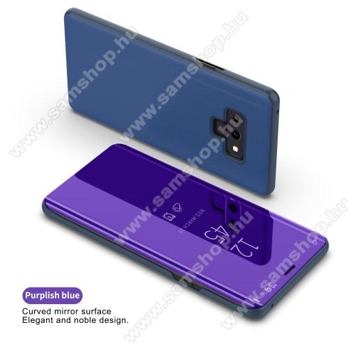 Notesz / flip tok - SÖTÉTLILA - oldalra nyíló áttetsző flip cover, asztali tartó funkció - SAMSUNG Galaxy Note9 (SM-N960F/SM-N960U)