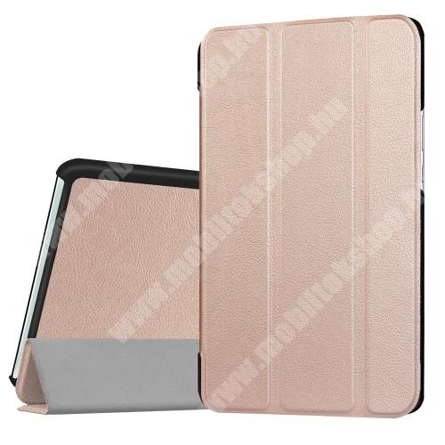 HUAWEI MediaPad M3 8.4 Notesz / mappa tok - ARANY - oldalra nyíló flip cover, TRIFOLD asztali tartó funkciós, mágneses záródás - HUAWEI MediaPad M3 8.4