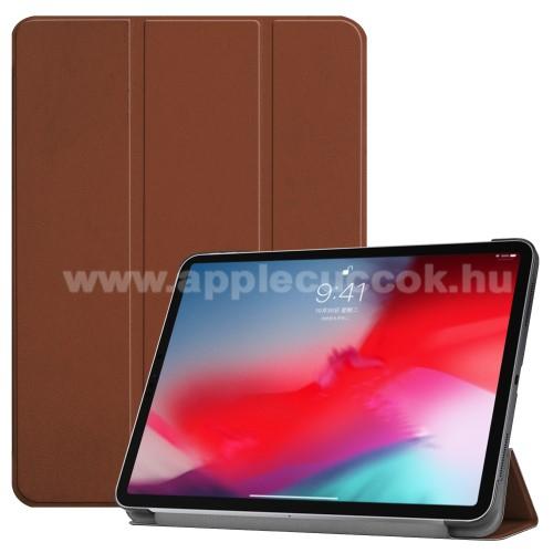 Notesz / mappa tok - BARNA - oldalra nyíló flip cover, TRIFOLD asztali tartó funkciós, mágneses záródás - APPLE iPad Pro 11 (2018)