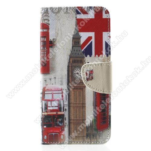 APPLE iPhone XrNotesz / mappa tok - BIG BEN MINTÁS - oldalra nyíló, rejtett mágneses záródás, belső zseb, asztali tartó funkció, szilikon belső - APPLE iPhone Xr