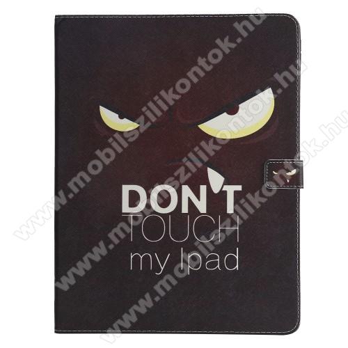 Notesz / mappa tok - Do Not Touch My Ipad MINTÁS - oldalra nyíló, rejtett mágneses záródás, belső zseb, asztali tartó funkció, szilikon belső - APPLE iPad Pro 12.9 (2018)
