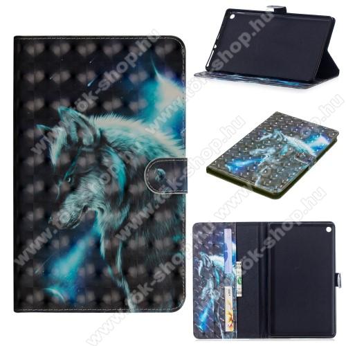 Notesz / mappa tok - FARKAS MINTÁS - oldalra nyíló, rejtett mágneses záródás, belső zseb, asztali tartó funkció, szilikon belső - HUAWEI MediaPad M5 10 (2018) / HUAWEI MediaPad M5 10 Pro (2018)