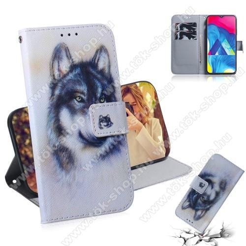 Notesz / mappa tok - FARKAS MINTÁS - oldalra nyíló, rejtett mágneses záródás, belső zseb, asztali tartó funkció, szilikon belső - SAMSUNG SM-M105F Galaxy M10
