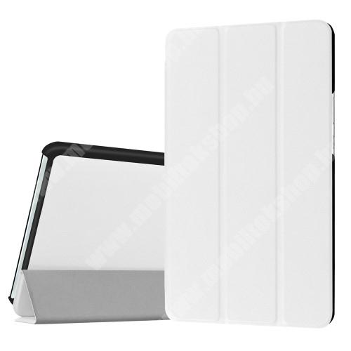 HUAWEI MediaPad M3 8.4 Notesz / mappa tok - FEHÉR - oldalra nyíló flip cover, TRIFOLD asztali tartó funkciós, mágneses záródás - HUAWEI MediaPad M3 8.4