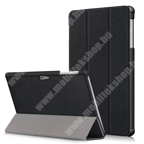 Notesz / mappa tok - FEKETE - oldalra nyíló flip cover, TRIFOLD asztali tartó funkció, mágneses záródás - MICROSOFT Surface Go