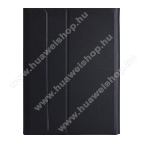 Notesz / mappa tok - FEKETE - oldalra nyíló flip cover, asztali tartó funkciós, mágneses záródás - HUAWEI MediaPad T5 10