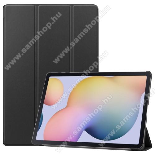 SAMSUNG Galaxy Tab S7 Plus (SM-T970/T976B)Notesz / mappa tok - FEKETE - oldalra nyíló flip cover, TRIFOLD asztali tartó funkciós, erősített sarkok, műanyag belső - SAMSUNG Galaxy Tab S7 Plus (SM-T970/T976B)