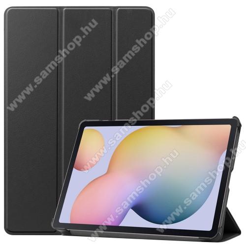 SAMSUNG Galaxy Tab S7 (SM-T870/T875/T876B)Notesz / mappa tok - FEKETE - oldalra nyíló flip cover, TRIFOLD asztali tartó funkciós, erősített sarkok, műanyag belső - SAMSUNG Galaxy Tab S7 (SM-T870/T875/T876B)