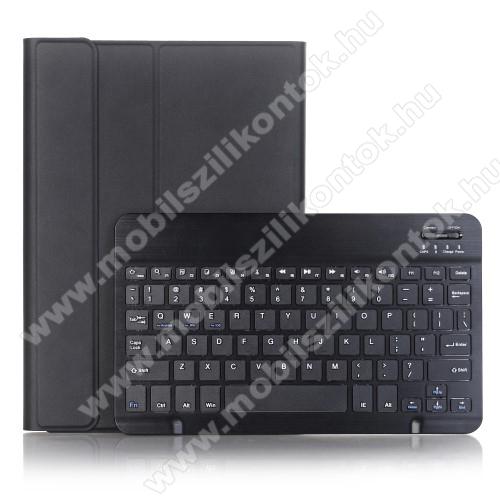 Notesz / mappa tok - FEKETE - oldalra nyíló, mágneses záródás, asztali tartó funkció, kivehető bluetooth billentyűzet (ANGOL KIOSZTÁSÚ!) - HUAWEI MediaPad M5 10 (2018) / HUAWEI MediaPad M5 10 Pro (2018)