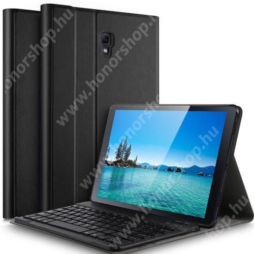 Notesz / mappa tok - FEKETE - oldalra nyíló, mágneses záródás, asztali tartó funkció, kivehető bluetooth billentyűzet (ANGOL KIOSZTÁSÚ!) - SAMSUNG SM-T590 Galaxy Tab A 10.5 Wi-Fi / SAMSUNG SM-T595 Galaxy Tab A 10.5 LTE