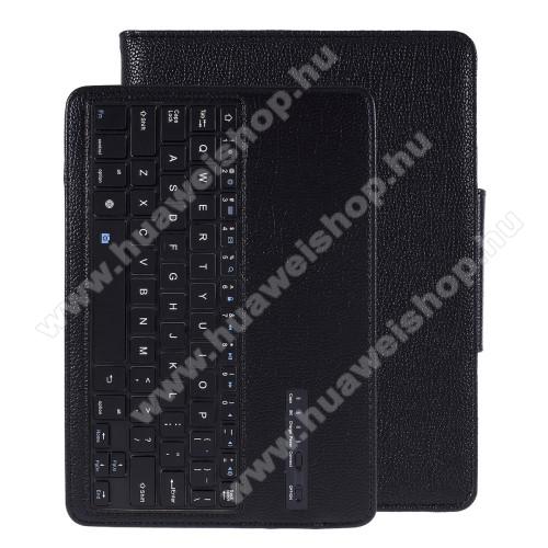 Notesz / mappa tok - FEKETE - oldalra nyíló, mágneses záródás, asztali tartó funkció, kivehető bluetooth billentyűzet (ANGOL KIOSZTÁSÚ!), bőr belső - SAMSUNG SM-T860 Galaxy Tab S6 (Wi-Fi) / SAMSUNG SM-T865 Galaxy Tab S6 (LTE)