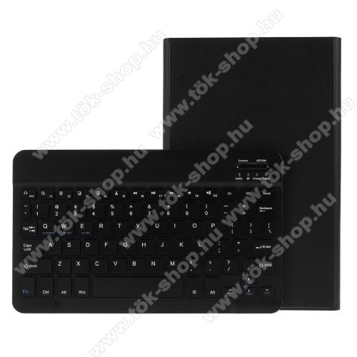 Notesz / mappa tok - FEKETE - oldalra nyíló, mágneses záródás, asztali tartó funkció, kivehető bluetooth billentyűzet (ANGOL KIOSZTÁSÚ!) - SAMSUNG Galaxy Tab A 10.1 Wi-Fi (2019) (SM-T510) / SAMSUNG Galaxy Tab A 10.1 LTE (2019) (SM-T515)