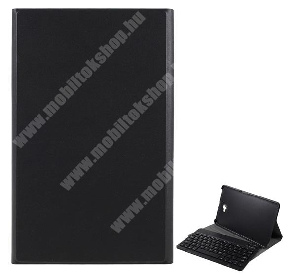 Notesz / mappa tok - FEKETE - oldalra nyíló, mágneses záródás, asztali tartó funkció, kivehető bluetooth billentyűzet (ANGOL KIOSZTÁSÚ!) - SAMSUNG SM-T580 Galaxy Tab A 10.1 (2016) / SAMSUNG SM-T585 Galaxy Tab A 10.1 (2016)