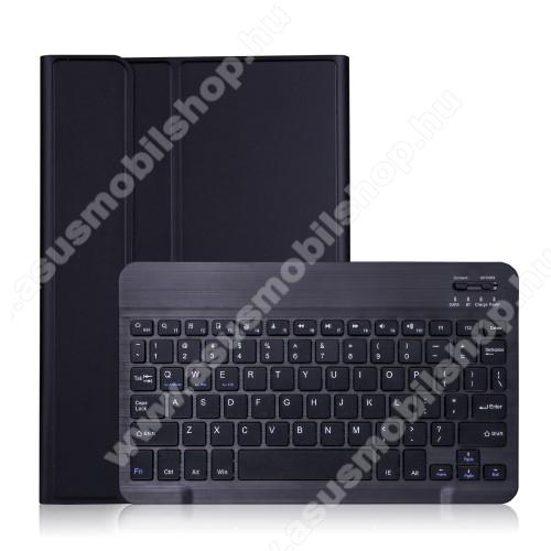 Notesz / mappa tok - FEKETE - oldalra nyíló, mágneses záródás, asztali tartó funkció, kivehető bluetooth billentyűzet (ANGOL KIOSZTÁSÚ!) - SAMSUNG Galaxy Tab A7 10.4 (2020) (SM-T500/SM-T505)