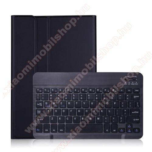 Notesz / mappa tok - FEKETE - oldalra nyíló, mágneses záródás, asztali tartó funkció, kivehető bluetooth billentyűzet (ANGOL KIOSZTÁSÚ!) - SAMSUNG Galaxy Tab S7 (SM-T870/T875/T876B)