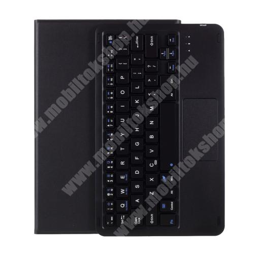 Notesz / mappa tok - FEKETE - oldalra nyíló, mágneses záródás, asztali tartó funkció, TOUCHPAD, kivehető bluetooth billentyűzet (ANGOL KIOSZTÁSÚ!) - SAMSUNG Galaxy Tab A7 10.4 (2020) (SM-T500/SM-T505)