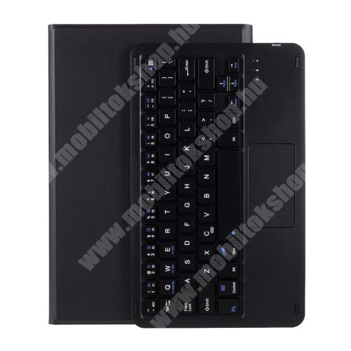 Notesz / mappa tok - FEKETE - oldalra nyíló, mágneses záródás, asztali tartó funkció, TOUCHPAD, kivehető bluetooth billentyűzet (ANGOL KIOSZTÁSÚ!) - LENOVO Tab P11 (TB-J606F)