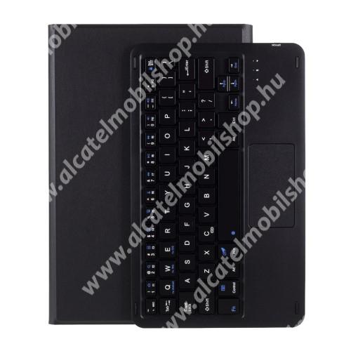 Notesz / mappa tok - FEKETE - oldalra nyíló, mágneses záródás, asztali tartó funkció, TOUCHPAD, kivehető bluetooth billentyűzet (ANGOL KIOSZTÁSÚ!) - LENOVO Tab P11 (TB-J606F) / Tab P11 Plus / Pad (ZA7R0232CN)
