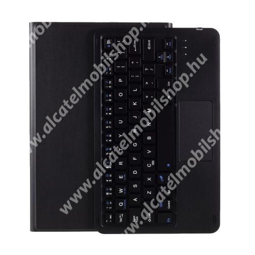 Notesz / mappa tok - FEKETE - oldalra nyíló, mágneses záródás, asztali tartó funkció, TOUCHPAD, kivehető bluetooth billentyűzet (ANGOL KIOSZTÁSÚ!) - Lenovo Tab M10 Plus (TB-X606F / TB-X606X)