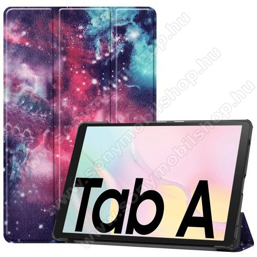 Notesz / mappa tok - GALAXIS MINTÁS - oldalra nyíló flip cover, TRIFOLD asztali tartó funkció, mágneses záródás, műanyag belső - SAMSUNG Galaxy Tab A7 10.4 (2020) (SM-T500/SM-T505)