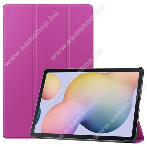 SAMSUNG Galaxy Tab S7 Plus (SM-T970/T976B)Notesz / mappa tok - LILA - oldalra nyíló flip cover, TRIFOLD asztali tartó funkciós, erősített sarkok, műanyag belső - SAMSUNG Galaxy Tab S7 Plus (SM-T970/T976B)