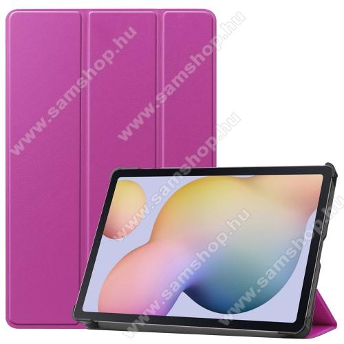 SAMSUNG Galaxy Tab S7 (SM-T870/T875/T876B)Notesz / mappa tok - LILA - oldalra nyíló flip cover, TRIFOLD asztali tartó funkciós, erősített sarkok, műanyag belső - SAMSUNG Galaxy Tab S7 (SM-T870/T875/T876B)
