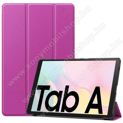 Notesz / mappa tok - LILA - oldalra nyíló flip cover, TRIFOLD asztali tartó funkciós, mágneses záródás, műanyag belső - SAMSUNG Galaxy Tab A7 10.4 (2020) (SM-T500/SM-T505)