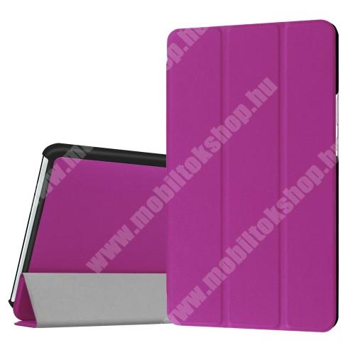 HUAWEI MediaPad M3 8.4 Notesz / mappa tok - LILA - oldalra nyíló flip cover, TRIFOLD asztali tartó funkciós, mágneses záródás - HUAWEI MediaPad M3 8.4