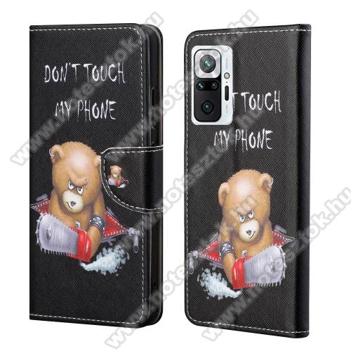Notesz / mappa tok - MACI MINTÁS - oldalra nyíló, rejtett mágneses záródás, bankkártyatartó zseb, asztali tartó funkció, szilikon belső - Xiaomi Redmi Note 10 Pro / Redmi Note 10 Pro Max